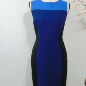 Loft Color block Sleeveless Dress